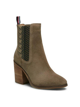 Tommy Hilfiger Tommy Hilfiger Боти Th Monogram High Boot FW0FW04582 Кафяв