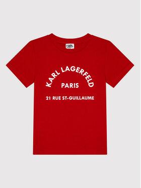 KARL LAGERFELD KARL LAGERFELD T-Shirt Z25316 S Czerwony Regular Fit