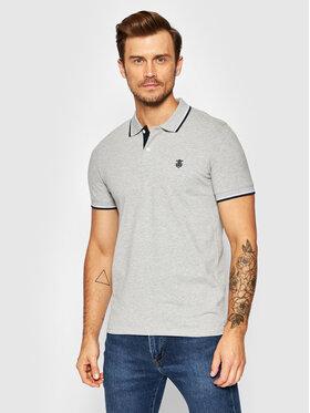 Selected Homme Selected Homme Тениска с яка и копчета New Season 16062542 Сив Regular Fit