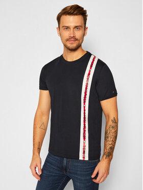Tommy Hilfiger Tommy Hilfiger T-Shirt UM0UM01915 Granatowy Regular Fit