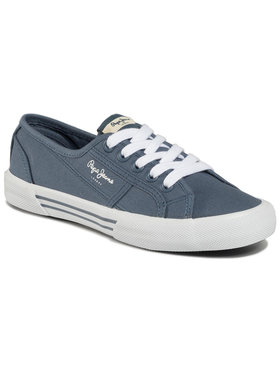 Pepe Jeans Pepe Jeans Sneakers aus Stoff Aberlady Eco PLS31016 Blau