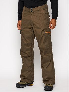 DC DC Spodnie snowboardowe Banshee ADYTP03006 Zielony Regular Fit