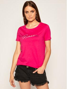 Guess Guess T-shirt Ss Cn Genziana Tee W0YI47 I3Z00 Rose Slim Fit