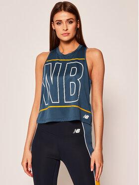 New Balance New Balance Maglietta tecnica WT01223S Blu Regular Fit