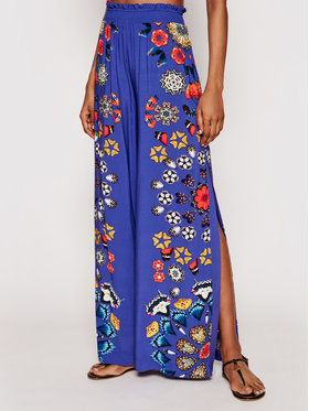 Desigual Desigual Pantaloni din material Chipre 21SWMW26 Bleumarin Relaxed Fit