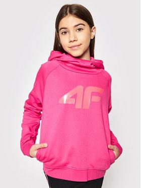 4F 4F Mikina HJL21-JBLD002 Růžová Regular Fit