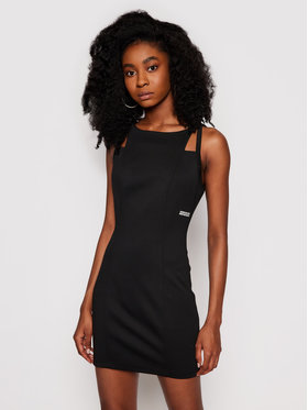 Calvin Klein Jeans Calvin Klein Jeans Každodenné šaty J20J215660 Čierna Slim Fit
