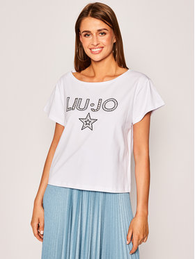 Liu Jo Beachwear Liu Jo Beachwear T-Shirt VA0071 J5506 Biały Regular Fit