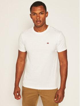 Napapijri Napapijri T-Shirt Salis C Ss NP0A4EW8 Biały Regular Fit