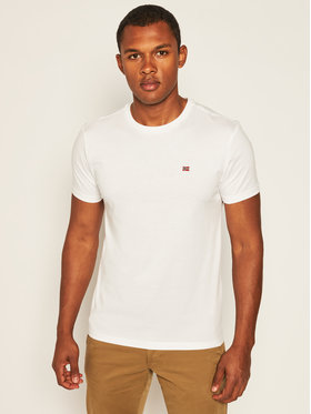 Napapijri Napapijri T-Shirt Salis C Ss NP0A4EW8 Bílá Regular Fit