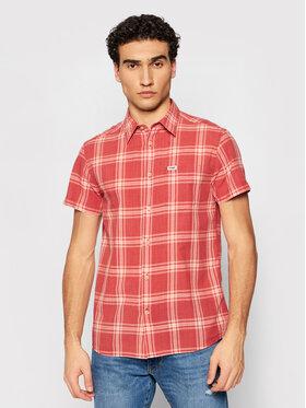 Wrangler Wrangler Hemd 1 Pkt Shirt W5J6OEXER Rot Regular Fit