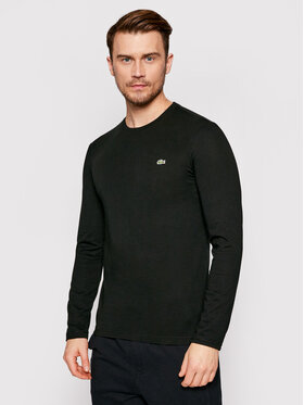 Lacoste Lacoste Marškinėliai ilgomis rankovėmis TH2040 Juoda Regular Fit