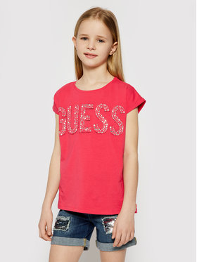 Guess Guess Marškinėliai J1RI34 K6YW1 Rožinė Regular Fit