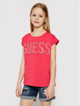 Guess Guess T-shirt J1RI34 K6YW1 Rose Regular Fit