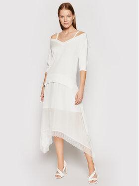 TwinSet TwinSet Sukienka dzianinowa 211TT3190 Biały Regular Fit