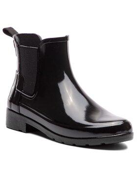 Hunter Hunter Bottes de pluie Org Refined Chelsea Gloss WFS1017RGL Noir