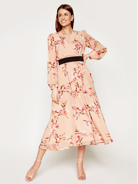Marella Marella Официална рокля Cutter 32214001 Бежов Regular Fit