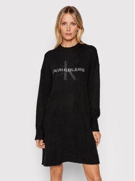 Calvin Klein Jeans Calvin Klein Jeans Плетена рокля J20J216740 Черен Relaxed Fit