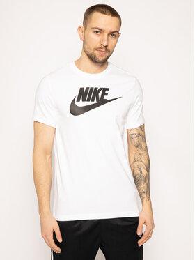 NIKE NIKE Тишърт Icon Futura AR5004 Бял Regular Fit