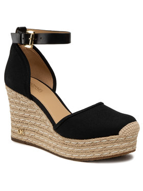 MICHAEL Michael Kors MICHAEL Michael Kors Еспадрили Kendrick Wedge 40S9KNMS2D Черен