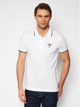 Aeronautica Militare Aeronautica Militare Polo marškinėliai 211PO1308P82 Balta Regular Fit
