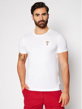 Aeronautica Militare Aeronautica Militare Marškinėliai 211TS1580J372 Balta Regular Fit