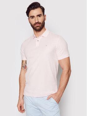 Calvin Klein Calvin Klein Тениска с яка и копчета Refined Pique Logo K10K102758 Розов Slim Fit