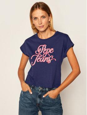 Pepe Jeans Pepe Jeans T-shirt Alberta PL504514 Blu scuro Regular Fit