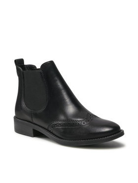 Tamaris Tamaris Členková obuv s elastickým prvkom 1-25493-27 Čierna