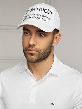 Calvin Klein Calvin Klein Kšiltovka Industrial Pique' Baseball Cap K50K504473 Bílá