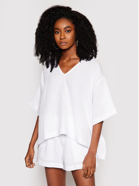 Seafolly Seafolly Тишърт Double Cloth 54257-TO Бял Oversize