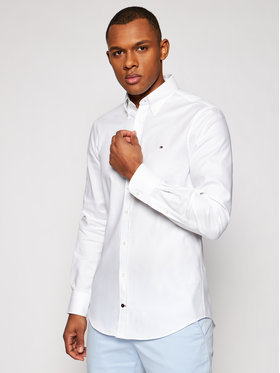 Tommy Hilfiger Tailored Tommy Hilfiger Tailored Риза Oxford MW0MW16485 Бял Slim Fit