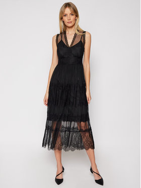 TwinSet TwinSet Φόρεμα κοκτέιλ 202TP2202 Μαύρο Regular Fit