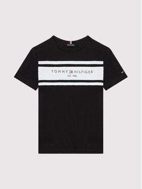 Tommy Hilfiger Tommy Hilfiger Tricou Essential Blocking KB0KB06711 D Negru Regular Fit