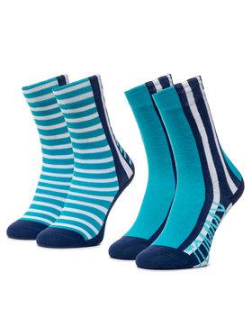 TOMMY HILFIGER TOMMY HILFIGER Σετ ψηλές κάλτσες παιδικές 2 τεμαχίων 320408001 Μπλε