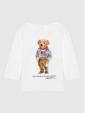 Polo Ralph Lauren Polo Ralph Lauren Блуза Bear 310854212003 Бял Regular Fit