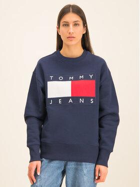 Tommy Jeans Tommy Jeans Mikina TJM Tommy Flag Crew DM0DM07201 Tmavomodrá Regular Fit