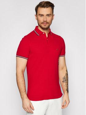Tommy Hilfiger Tommy Hilfiger Polo marškinėliai Tipped MW0MW16054 Raudona Slim Fit