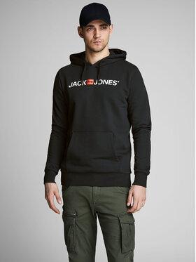 Jack&Jones Jack&Jones Pulóver Corp Old Logo 12137054 Fekete Regular Fit