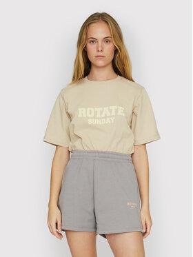 ROTATE ROTATE Marškinėliai Aster RT453 Smėlio Loose Fit