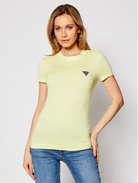 Guess Guess T-Shirt W1RI04 J1311 Żółty Slim Fit