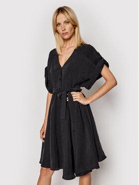 Imperial Imperial Sukienka koszulowa ABWVBHG Czarny Regular Fit