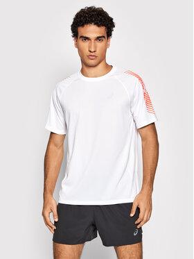 Asics Asics Тениска от техническо трико Icon Ss 2011B055 Бял Regular Fit