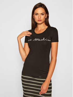 LOVE MOSCHINO LOVE MOSCHINO T-Shirt W4H1901E 1951 Černá Slim Fit