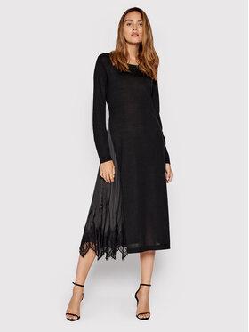 TWINSET TWINSET Úpletové šaty 212TP3282 Černá Regular Fit