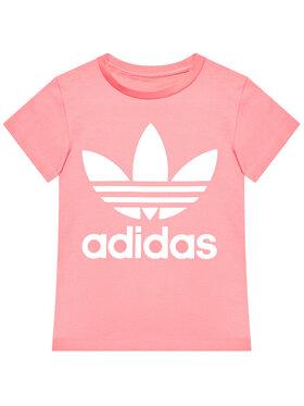 adidas adidas Marškinėliai Trefoil GN8205 Rožinė Standard Fit