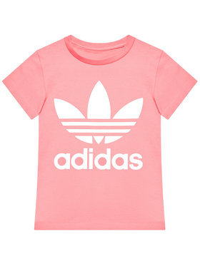 adidas adidas T-Shirt Trefoil GN8205 Różowy Standard Fit