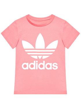 adidas adidas T-Shirt Trefoil GN8205 Růžová Standard Fit