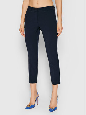 Marella Marella Kalhoty z materiálu Violet 31360518 Tmavomodrá Slim Fit