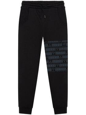 Guess Guess Spodnie dresowe L1YQ11 KA6R0 Czarny Regular Fit